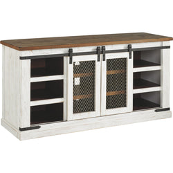 Wystfield Large TV Stand - White/Brown