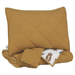 Cooperlen Full Quilt Set - Golden Brown