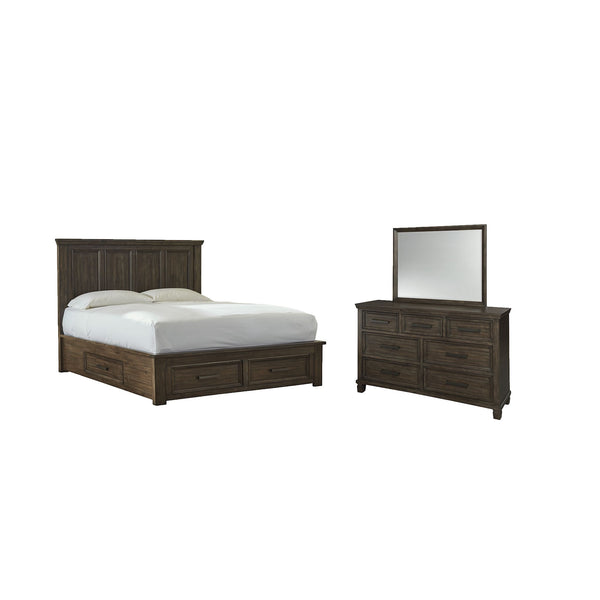 Johurst 5 Piece Bedroom Package - Grayish Brown