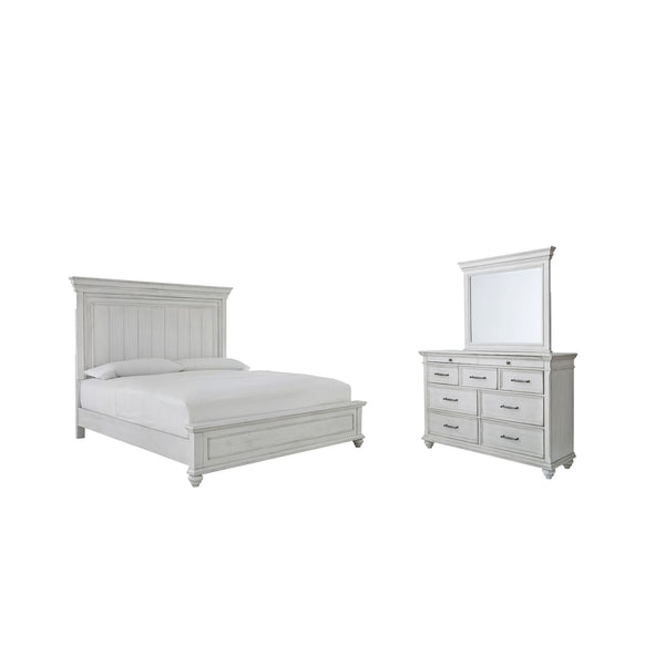 Kanwyn 5 Piece Bedroom Package - Whitewash