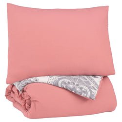 Avaleigh Twin Comforter Set - Pink