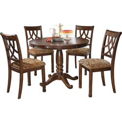 Leahlyn 5 Piece Casual Dining - Warm Brown
