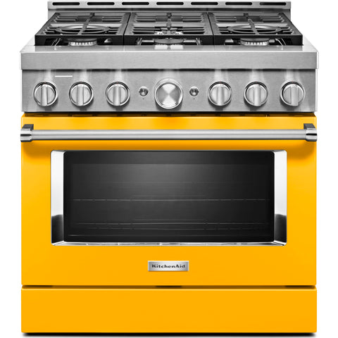 KitchenAid Gas Range - Yellow