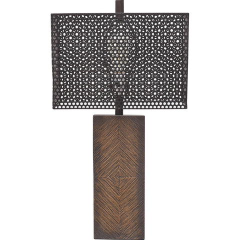 Briek Table Lamp - Brown
