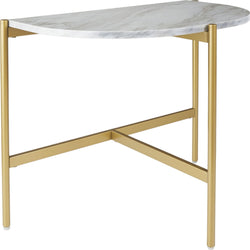 Wynora Chair Side End Table - White/Gold