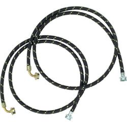6'L Washer Hose 90 Elbow Steel Couplings Washer Hose