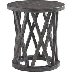 Sharzane End Table - Grayish Brown