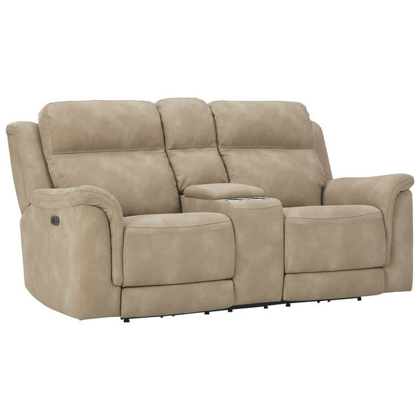 Next Power Reclining Loveseat w/Console - Sand