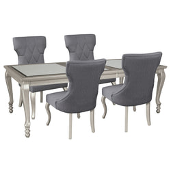 Coralayne  5 Piece Formal Dining - Silver