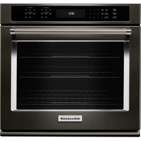 KitchenAid 27 Self Clean Wall Oven - Black Stainless