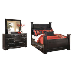 Dawson 5 Piece Bedroom Package - Almost Black