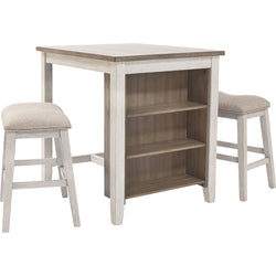 Kinley 3 Piece Dinette - White/Light Brown