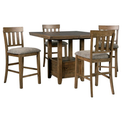 Flaybern 5 Piece Pub Dining - Brown