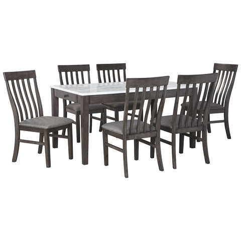 Luvoni 7 Piece Dining Room - White/Gray