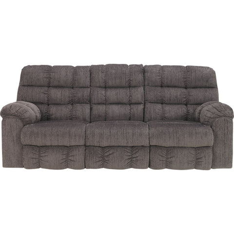 Acieona Reclining Sofa with Drop Table - Slate