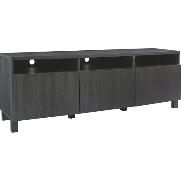 Yarlow Extra Large TV Stand - Black/Gray