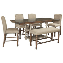 Lettner 6 Piece Dining Room - Gray/Brown