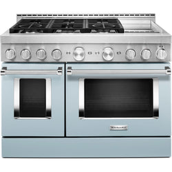 KitchenAid Gas Range - Misty Blue