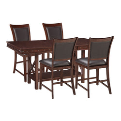 Vardona 5 Piece Casual Dining - Dark Brown