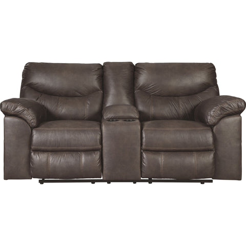 Boxberg Reclining Loveseat with Console - Teak