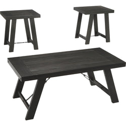 Noorbrook 3 Pack Tables - Black/Pewter