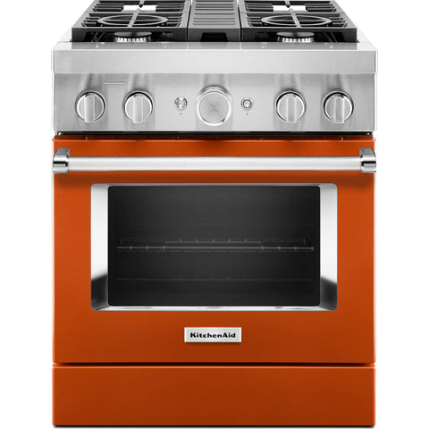 KitchenAid Dual Fuel Range - Orange