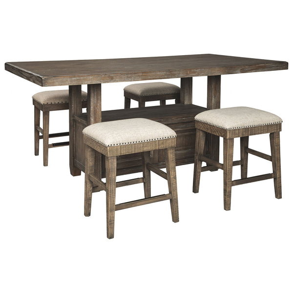 Wyndahl 5 Piece Pub Dining - Rustic Brown