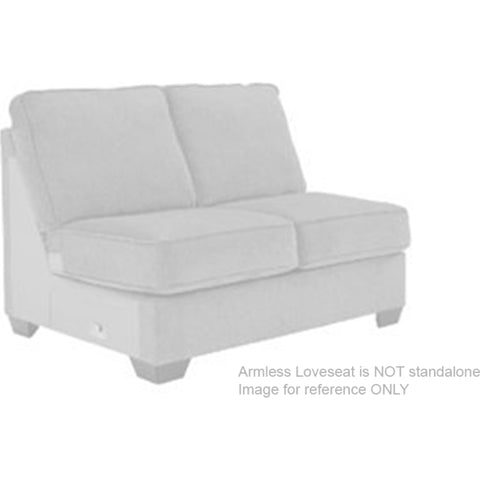 Ardsley Armless Loveseat - Pewter