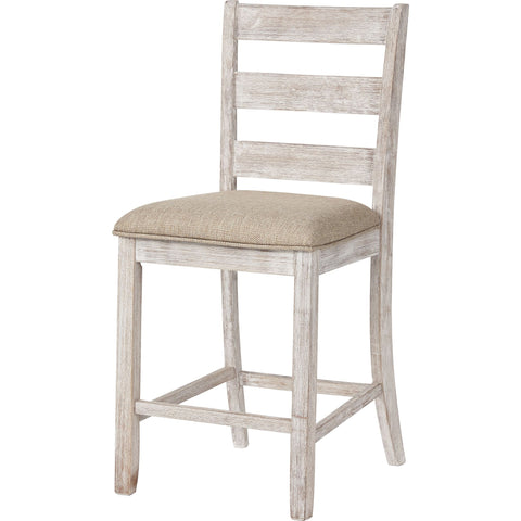 Skempton Bar Stool - White/Light Brown
