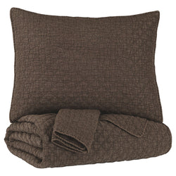 Ryter Twin Coverlet Set - Brown