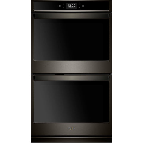 "Whirlpool 27"" Double Wall Oven - Black Stainless"