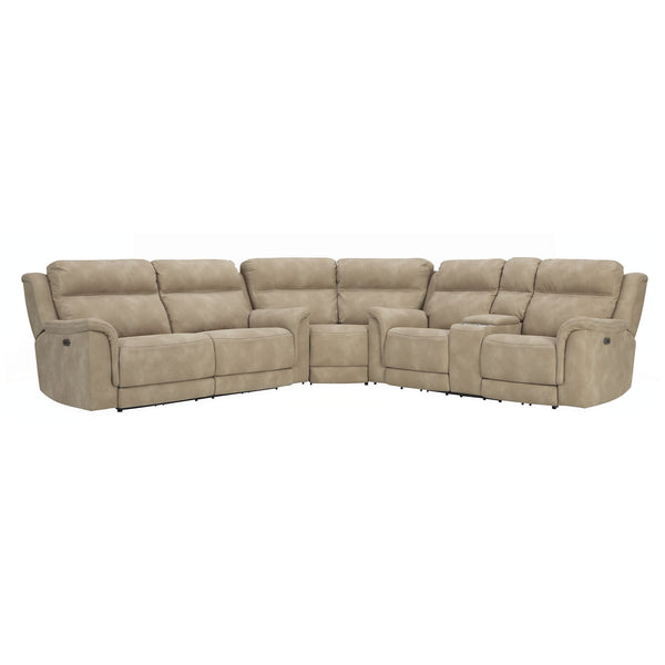Next 3 Piece Reclining Power Sectional - Sand