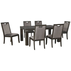 Hyndell 7 Piece Dining Room - Dark Brown
