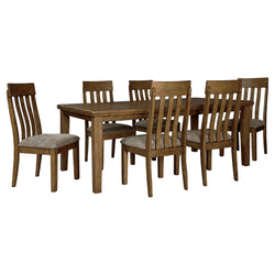 Flaybern 7 Piece Casual Dining - Brown