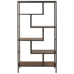 Frankwell Bookcase - Brown/Black