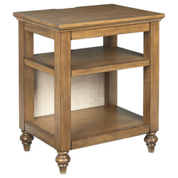 Brickwell  Accent Table - Beige/Brown