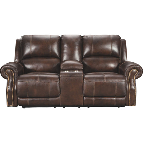 Buncrana Power Reclining Loveseat - Chocolate