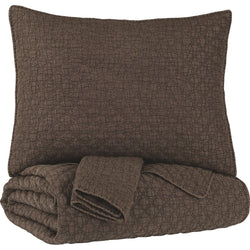 Ryter 3 Piece Coverlet - Brown/Beige