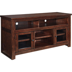 Harpan  Large TV Stand - Reddish Brown
