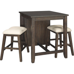 Rokane 3 Piece Dinette - Light Brown