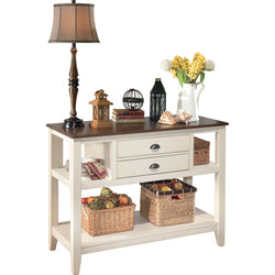 Whitesburg Server - Brown/Cottage White