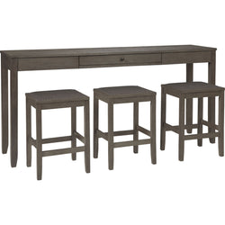 Kingston Bay 4 Piece Pub Dining - Gray