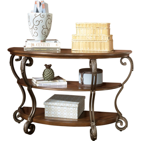 Romero Sofa Table - Medium Brown