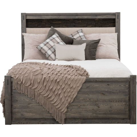 Stockton 3 Piece Queen Padded Bed - Slate