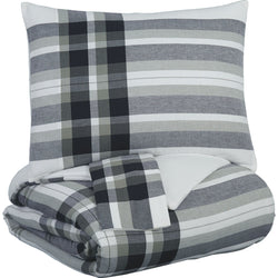 Freemont Queen Comforter Set - Black/Gray
