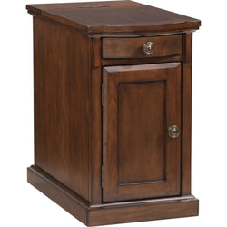 Laflorn Chair Side End Table - Medium Brown