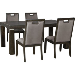 Hyndell 5 Piece Formal Dining - Dark Brown