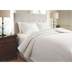 Dietrick  King Quilt Set - Ivory
