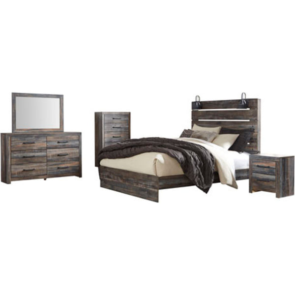 Drystan 5 Piece Queen Bedroom - Multi