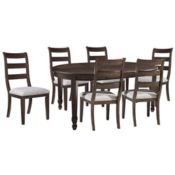 Hilmoore 7 Piece Dining Room - Reddish Brown